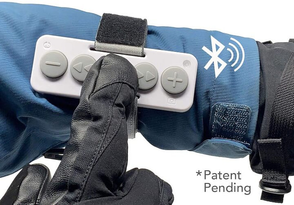 Chubby Buttons: Bluetooth Music Remote for Glove