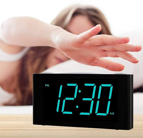 Digital Alarm Clock with Dimmer, Snooze, Night Light, & More