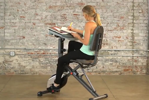 Adjustable Desk Folding Exercise Bike
