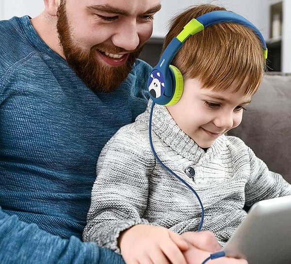Kid Friendly Headphone with Volume Limit to Ensure Hearing Safety