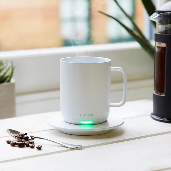 ember temperature control smart mug white with led
