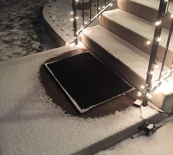 Snow Melting Heated Door Mat