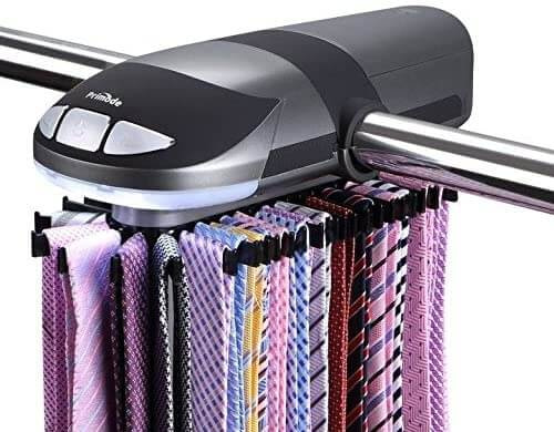 Motorized Tie Rack that Slowly Rotates Tie Collection