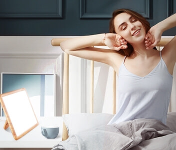 Touch-Controlled LED Light Therapy Lamp for Better Mood