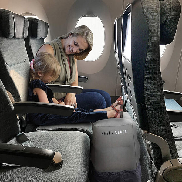 Inflatable Airplane Footrest for Toddler
