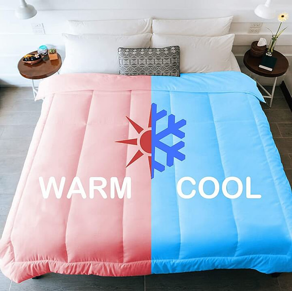 Half Warm Half Cool Bed for Couple