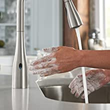 Kitchen Faucet That Allows You Turn Water On and Off by Waving