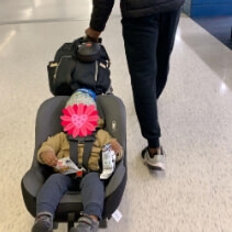 Travel Belt to Convert Car Seat & Suitcase into An Airport Car Seat Stroller