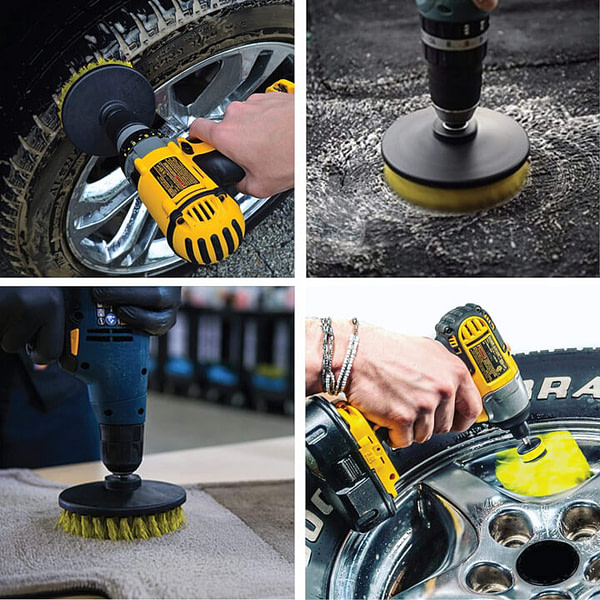 Wheel Brush Kit for Tire and Rim Cleaning