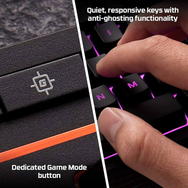 Silent Keyboard for Quiet Late Night Productivity and Gaming