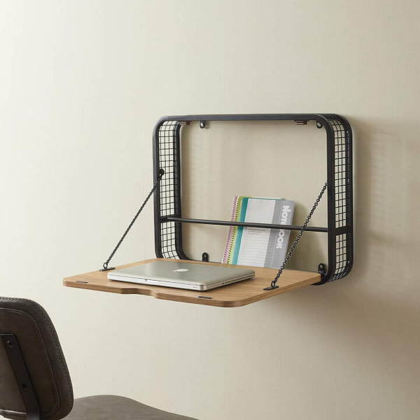 Wall Mounted Foldable Laptop Desk for Small Room