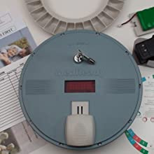 Medication Dispenser with Flashing Light Reminder to Take Pills On Time