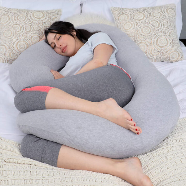 C-Shaped Pregnancy Pillow for Full Body Support