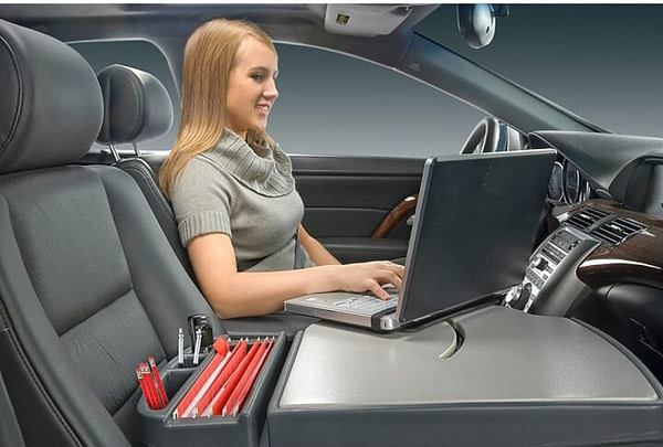 Portable desktop for car
